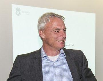 """Vortrag Knut Braake im Designcenter Baden-Württemberg Vortragsreihe """"Digitale Techniken im Produktentwicklungsprozess""""(Photo: Thomas Simianer)"""